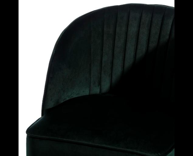 HENRY fotel bársony - smaragdzöld