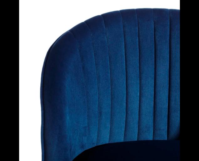 HENRY fotel bársony - királykék