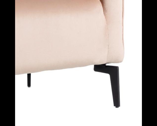 ROBERTO fotel bársony - bézs