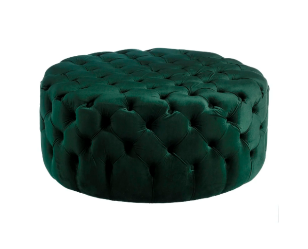 KARIN puff bársony - smaragdzöld
