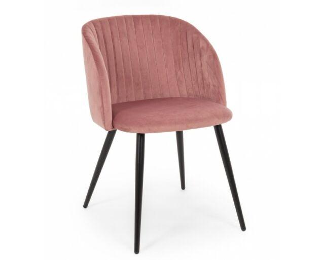Queen rozé bársony szék