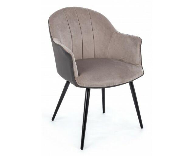Nana bársony karfás szék - szürkés-barna