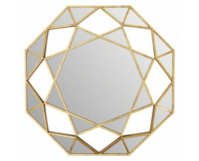 Golden Octagonal Tükör