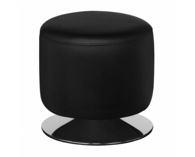 Króm-Fekete színű puff