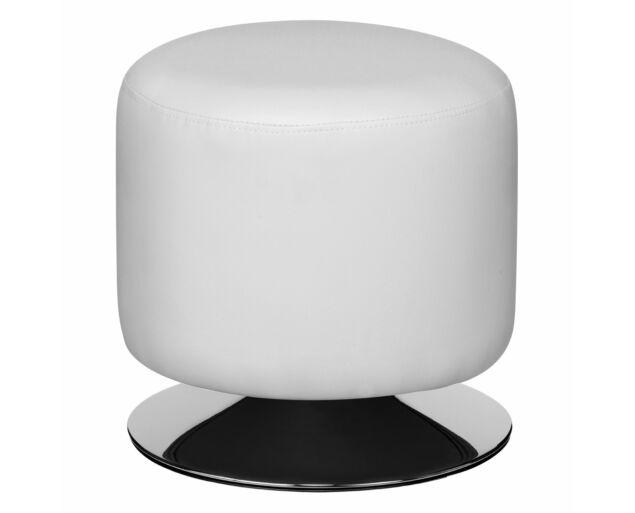 Fehér színű puff - fekete alj