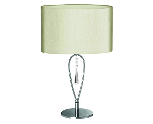 Arany asztali lámpa kristályfüggővel