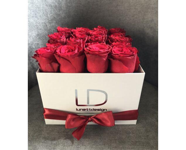 """""""Marylin"""" rózsadoboz - 20 szál Vörös rózsa"""