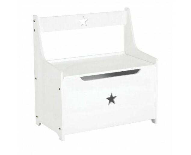 Lunettbaby csillag játéktároló és pad