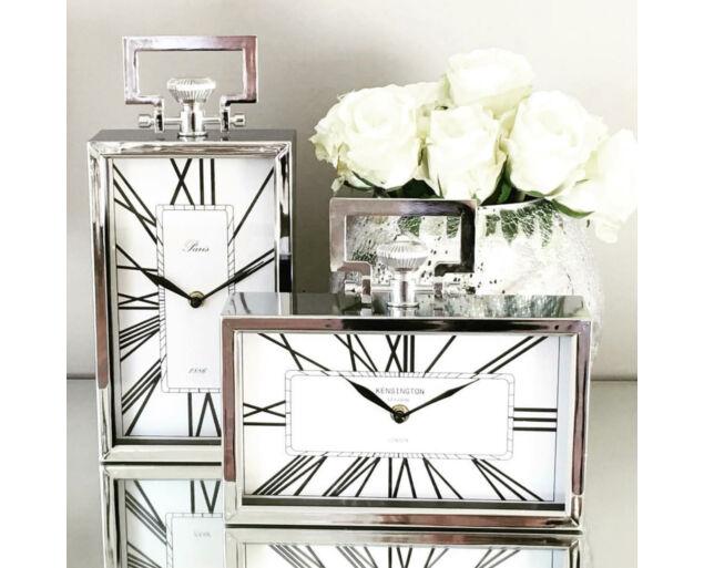 Design óra fekvő - Ezüst színben