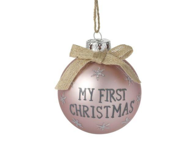 """My First Christmas"" Dísz- Rózsaszín"