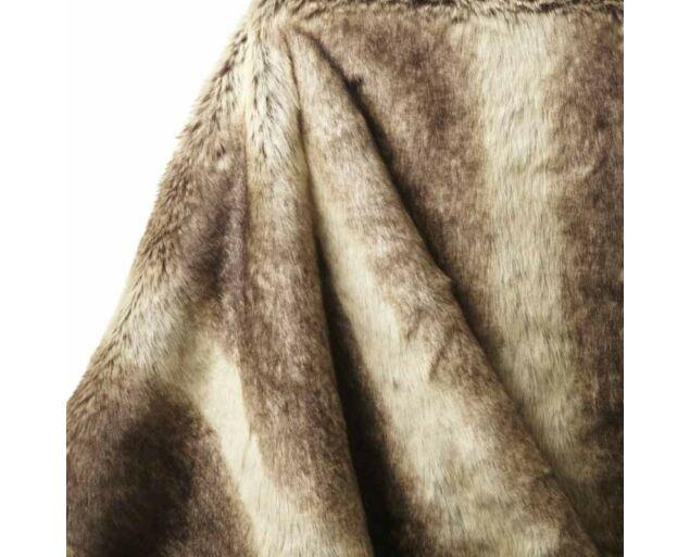 Pihe-puha műszőrme takaró- Világos barna