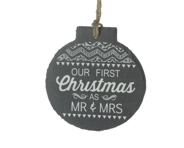 """""""First Xmas As Mr And Mrs"""" Dísz"""
