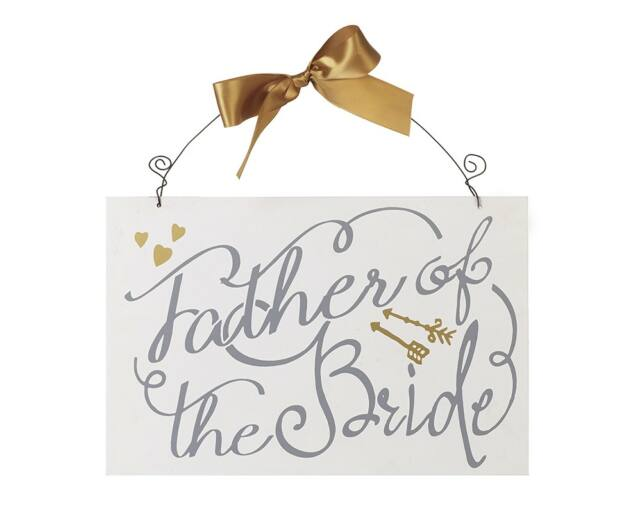 """Esküvői Dísz  - """" Father of the Bride """" Tábla"""