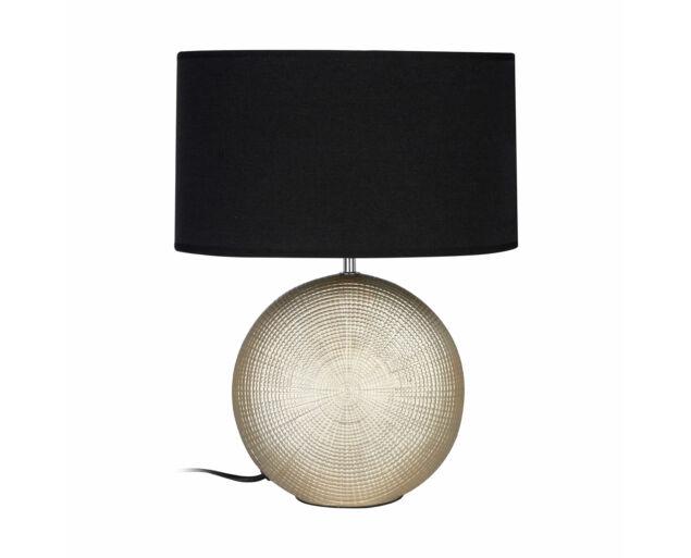 Arany asztali lámpa Fekete búrával