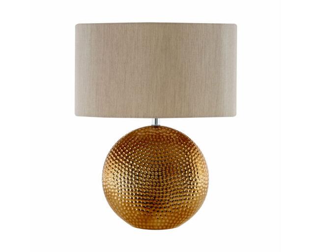 Bronz asztali lámpa Bézs búrával