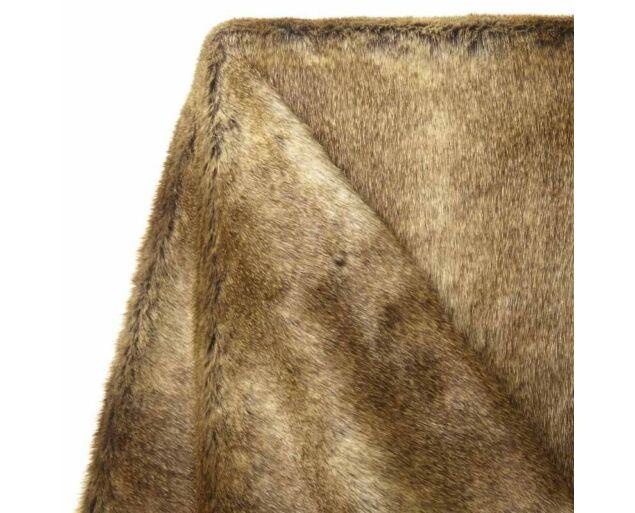 Pihe-puha műszőrme takaró- Barna csíkos
