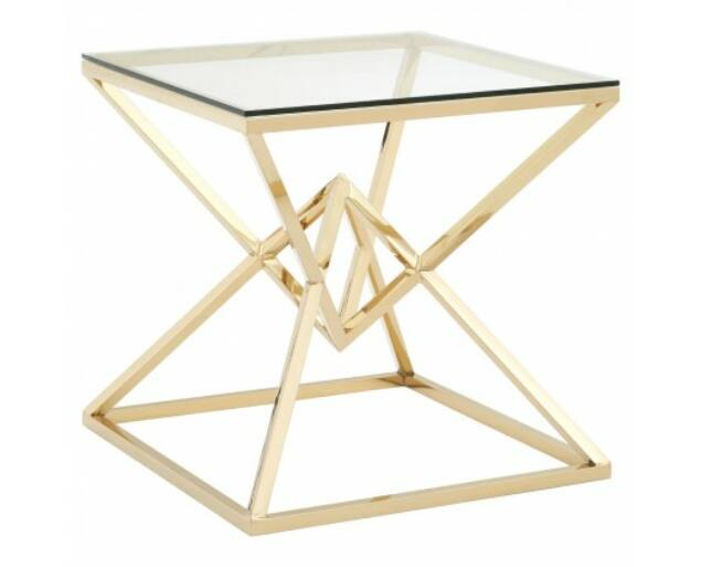 Rella Diamond konzolasztal - arany, üveg