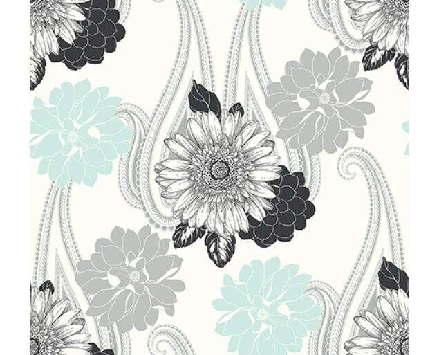 Black and White - Floral Paisley -20802