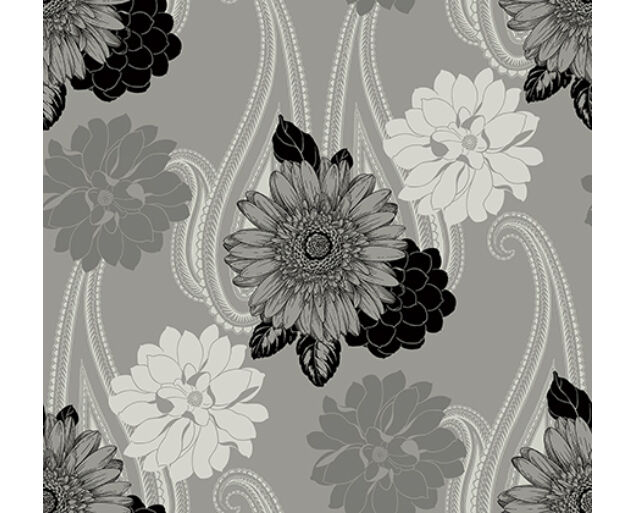 Black and White - Floral Paisley -20812