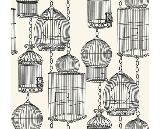 Black and White - Bird Cages -21510