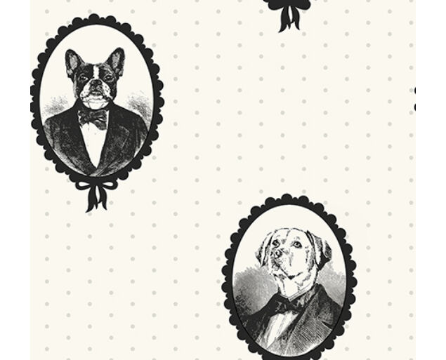 Black and White - Dog Portrait Cameos -21810