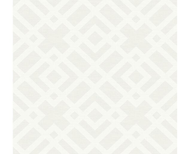 White on White -Grasscloth Lattice -31707