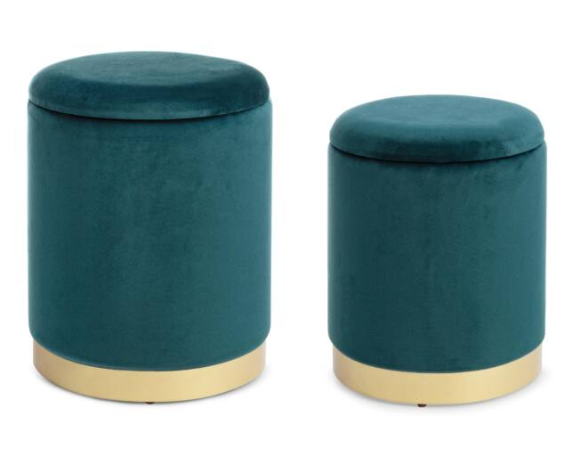 Evy puff szett - tárolóval - zöld