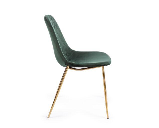 Ramona bársony szék - sötétzöld