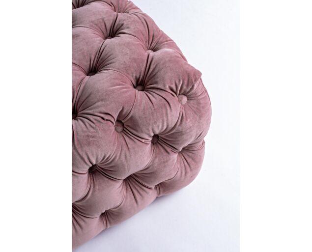Eva bársony pad - púder rózsaszín