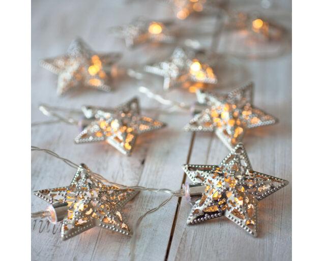 """Stars"" Fényfűzér  Silver"