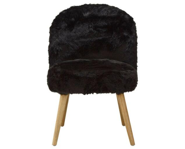 Fluffy Fotel - Fekete
