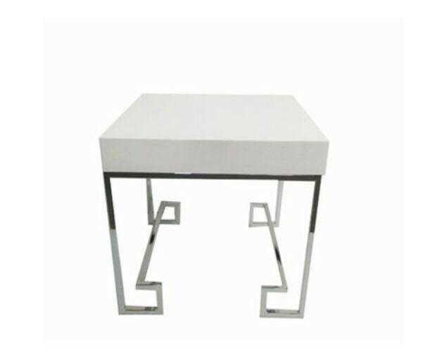 Allure Asztalka 55 cm Fehér - ezüst
