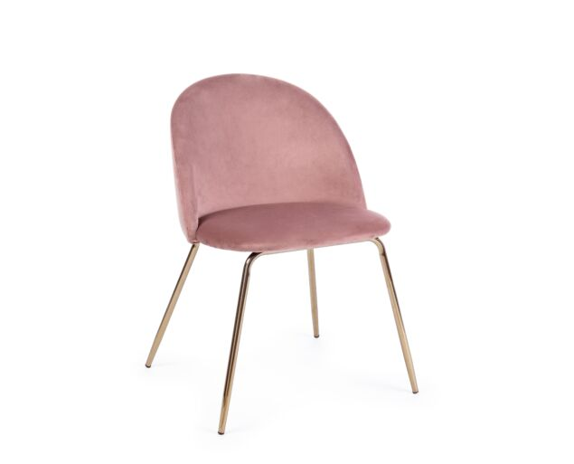 Tamara bársony szék - rózsaszín