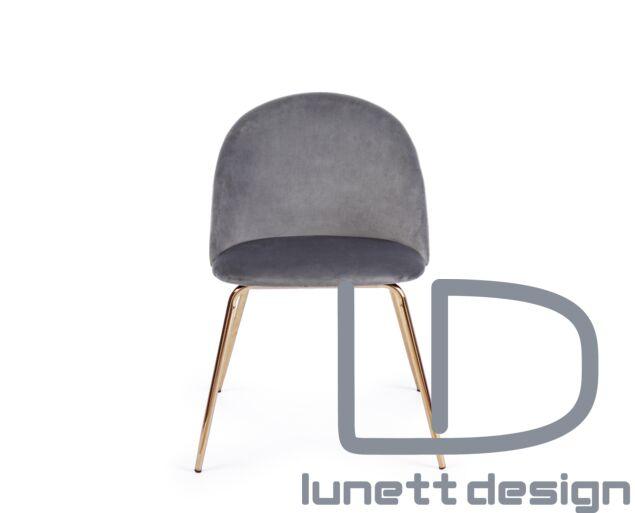 Tamara bársony szék - szürke