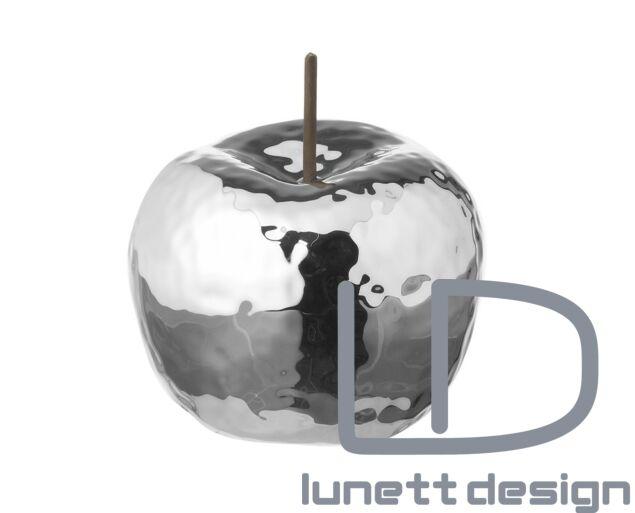 Ezüst alma dísz - kerámia