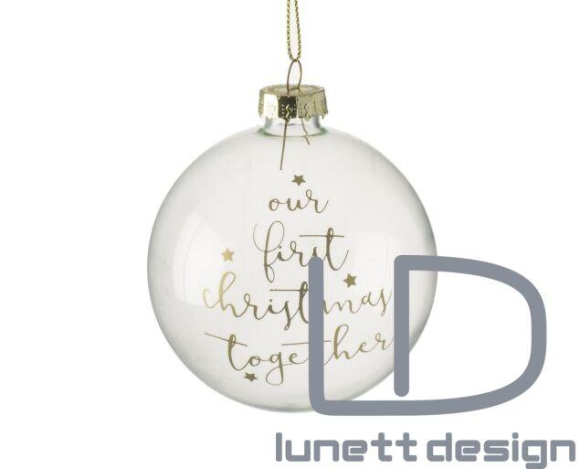 Első közös karácsonyunk - karácsonyi gömb